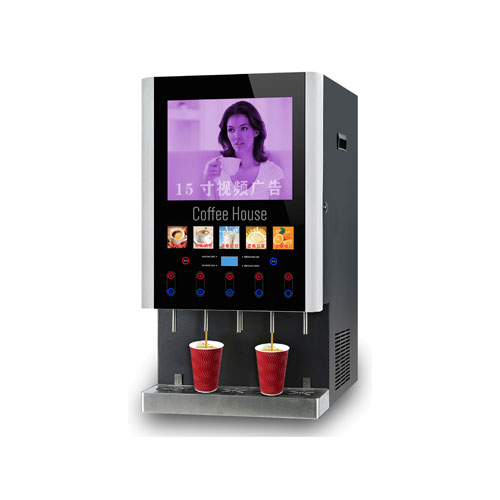 五料广告咖啡饮水机(冰热款-速溶型)